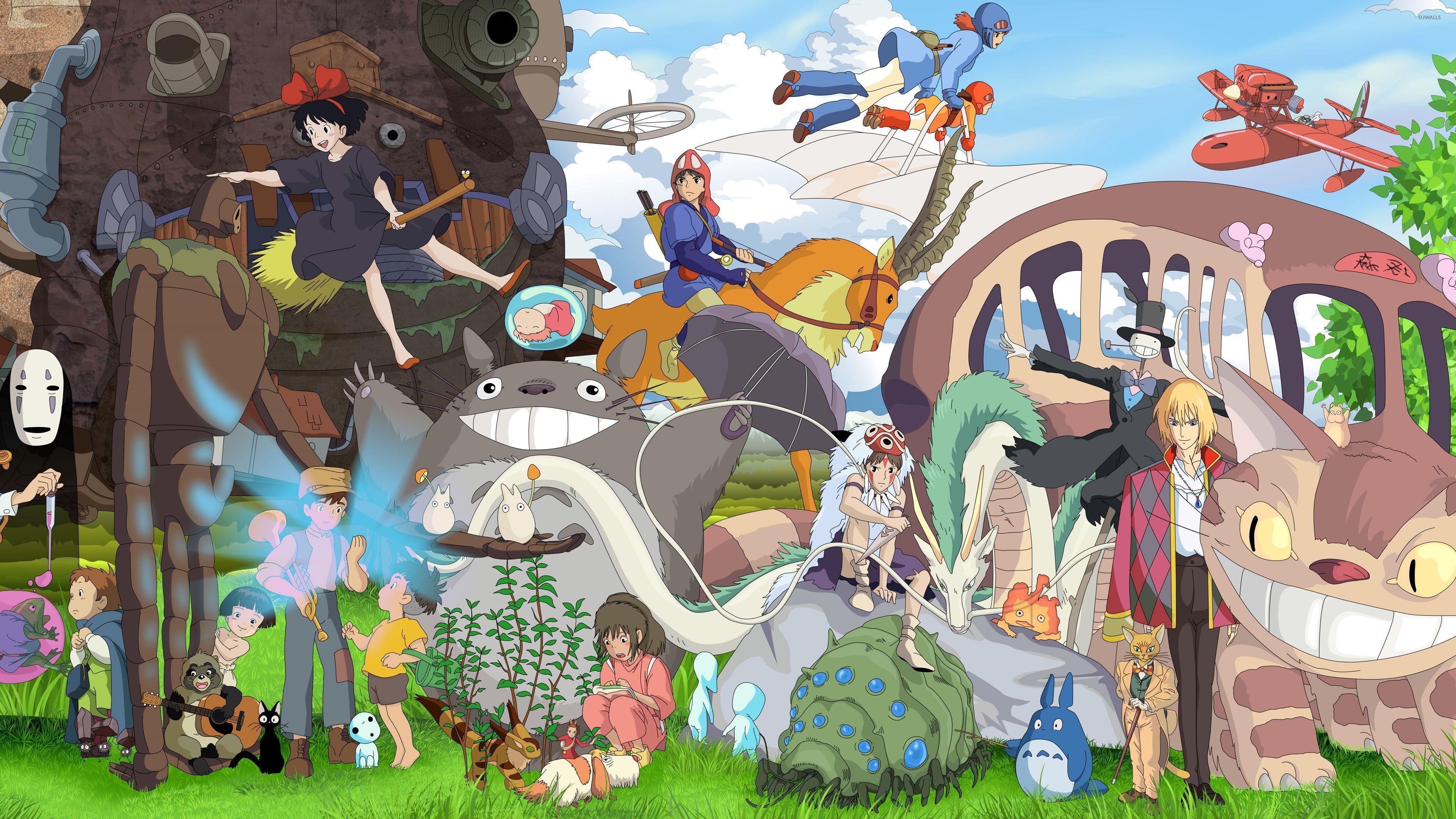 Hình nền các nhân vật 3840x2160 Studio Ghibli - Hình nền anime