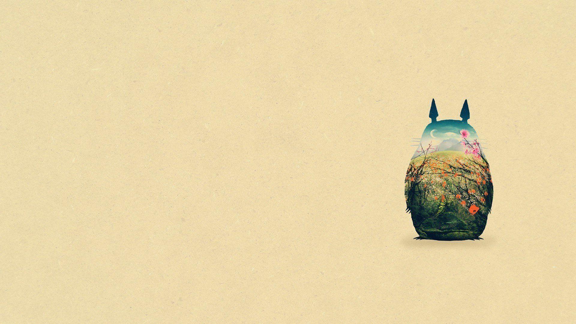 1920x1080 Studio Ghibli Totoro Hàng xóm của tôi Nền đơn giản