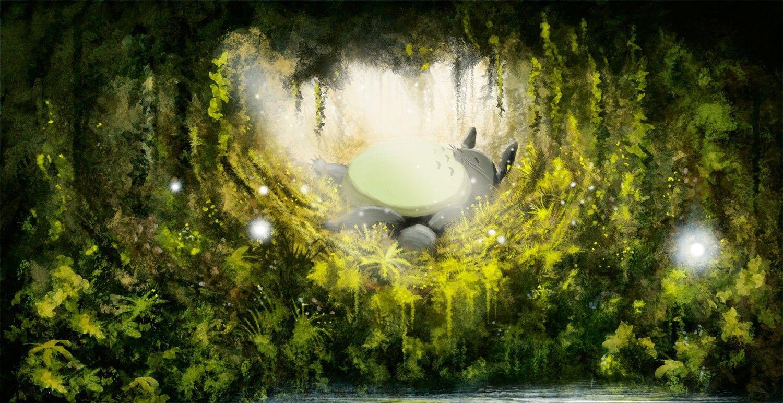 1500x772 Hình nền: 1500x772 px, My Neighbor Totoro, Studio Ghibli 1500x772