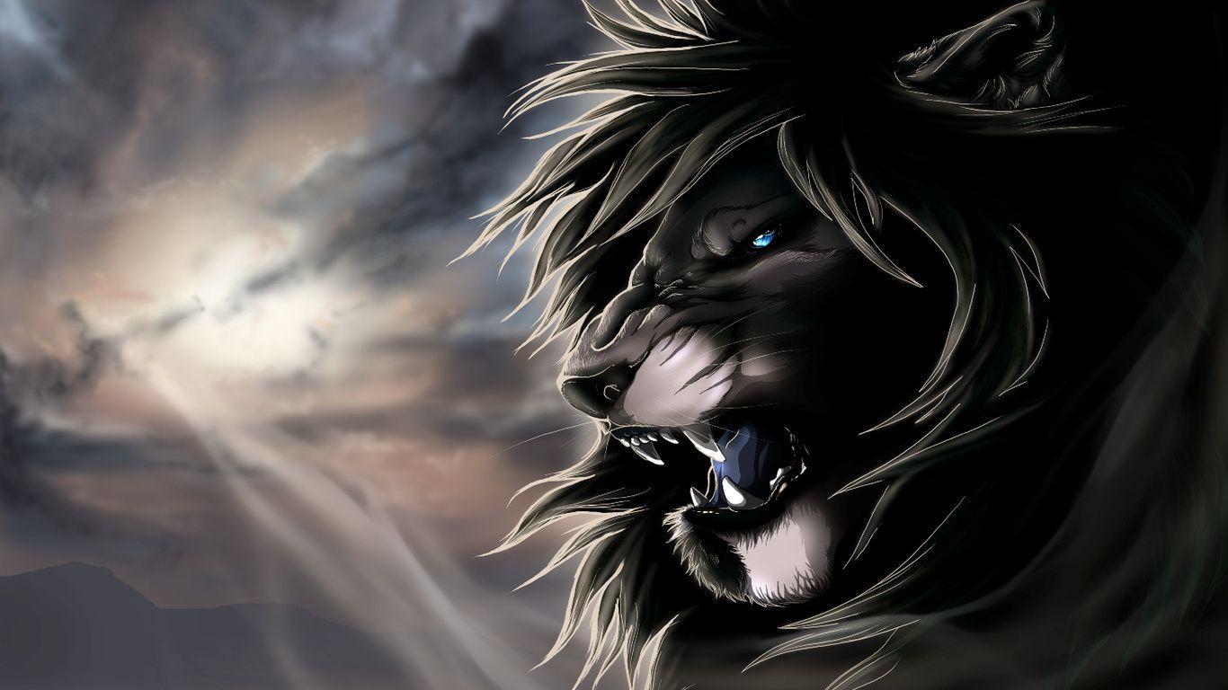 1366x768 изображений черных львов