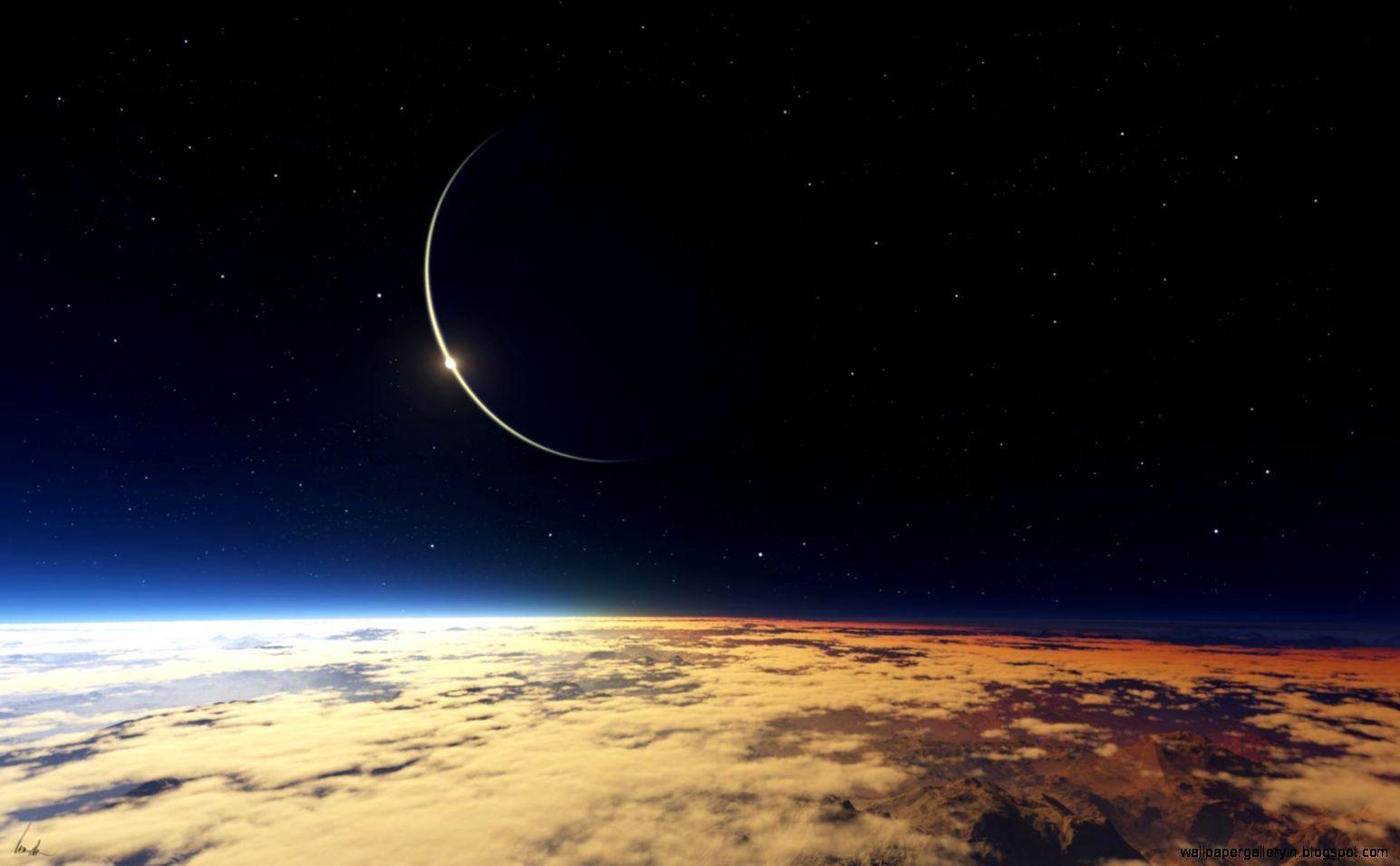 Space Universe Eclipse Hd Wallpapers Desktop