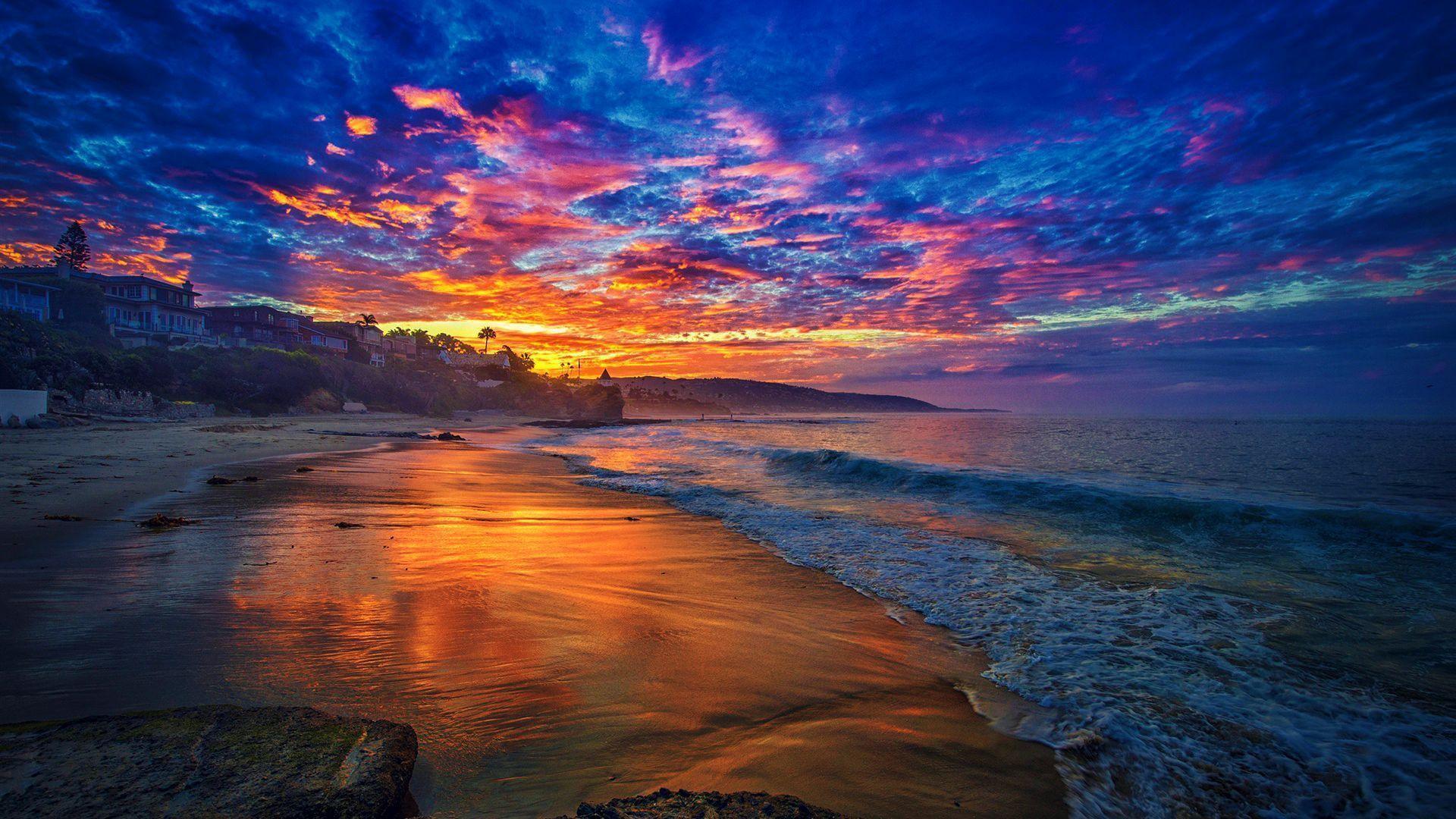Sunrise Beach Wallpaper Hd
