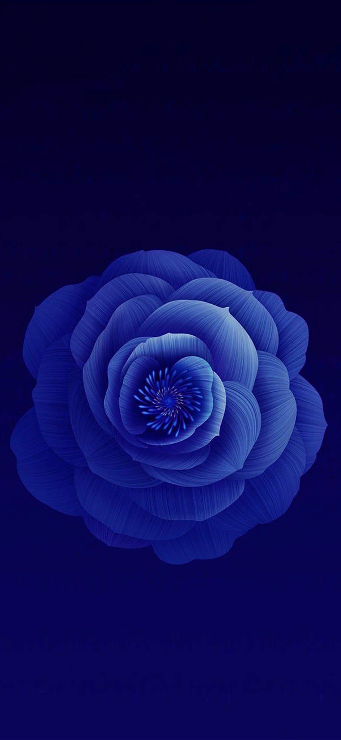 Dark Blue Floral iPhone Wallpapers ...