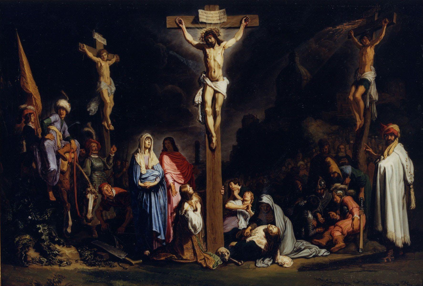 Resultado de imagem para rembrandt crucifixion of jesus