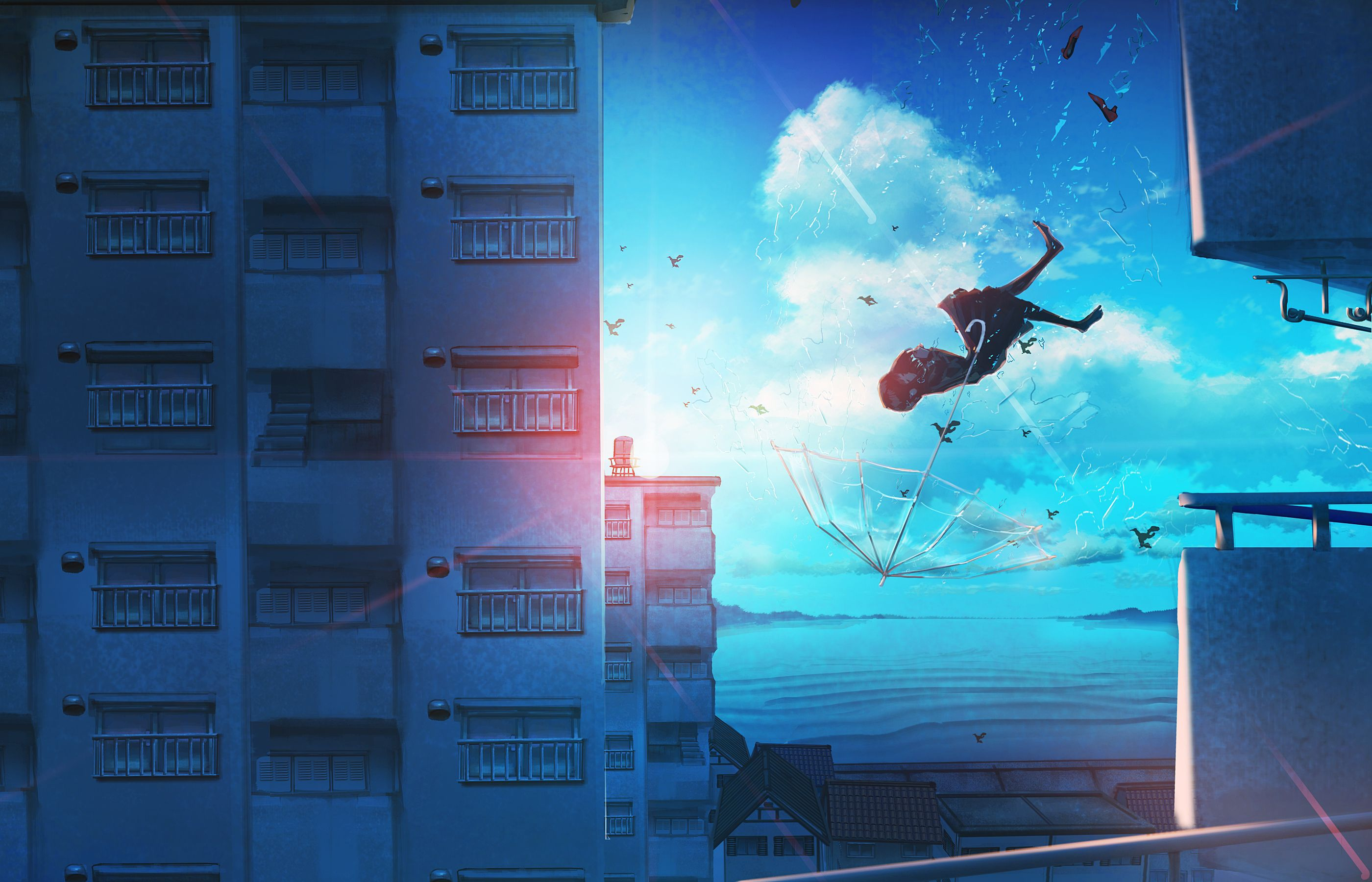 Falling Anime Wallpapers - Top Free Falling Anime Backgrounds