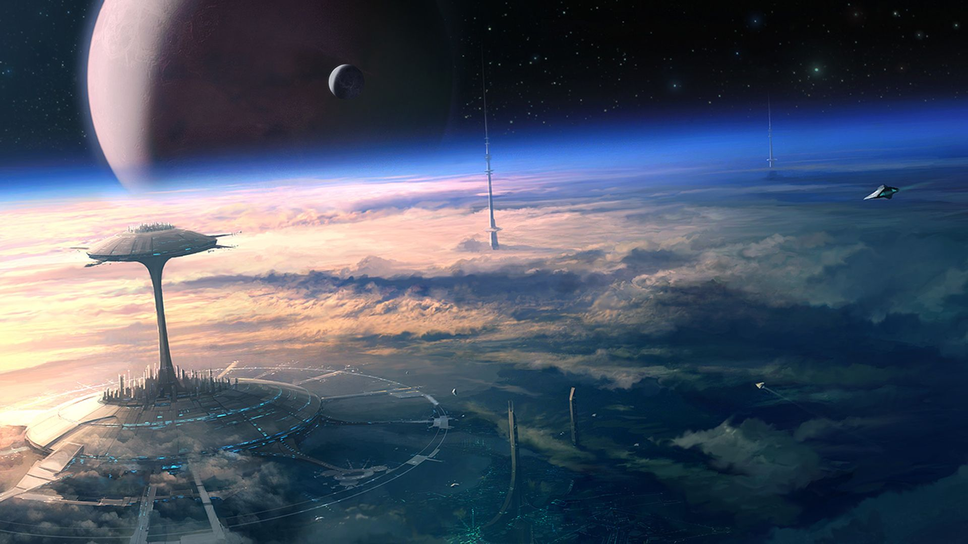 Future Space Wallpapers Top Free Future Space Backgrounds Wallpaperaccess