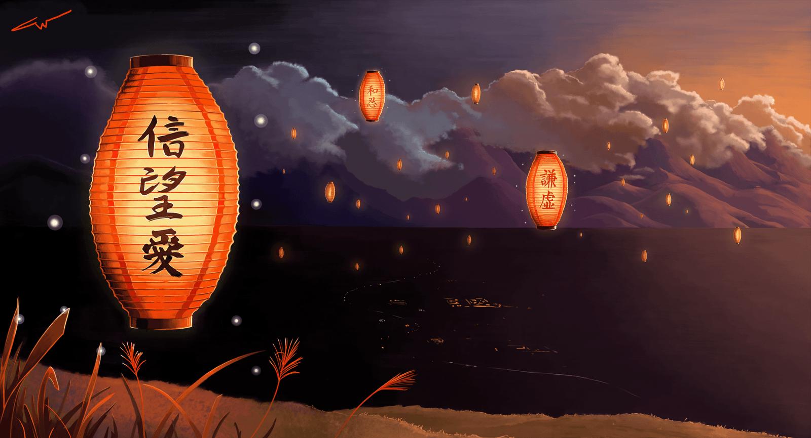 Japanese Lantern Desktop Wallpapers Top Free Japanese Lantern Desktop Backgrounds Wallpaperaccess