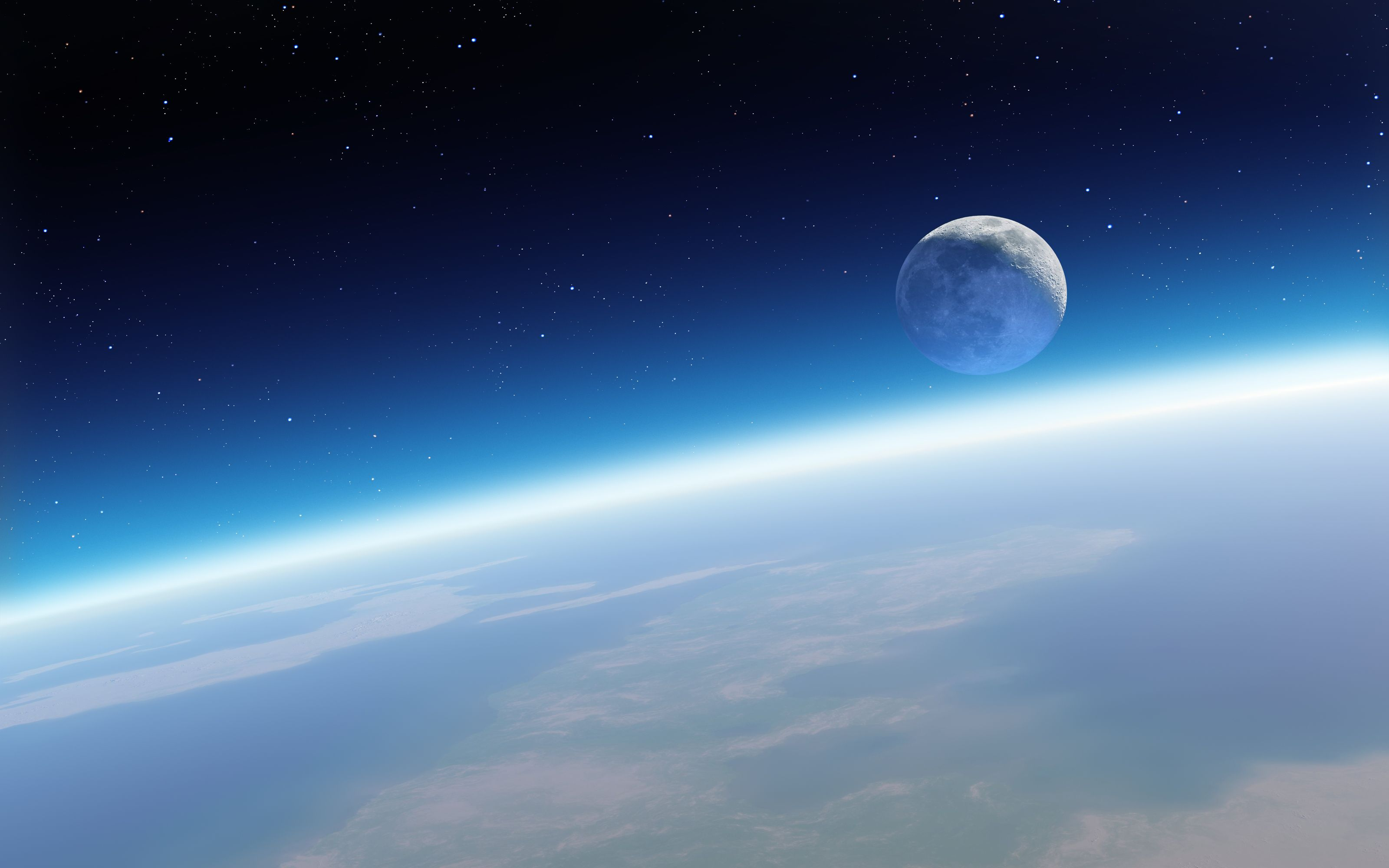 Earth and Moon Wallpapers - Top Free Earth and Moon Backgrounds ...