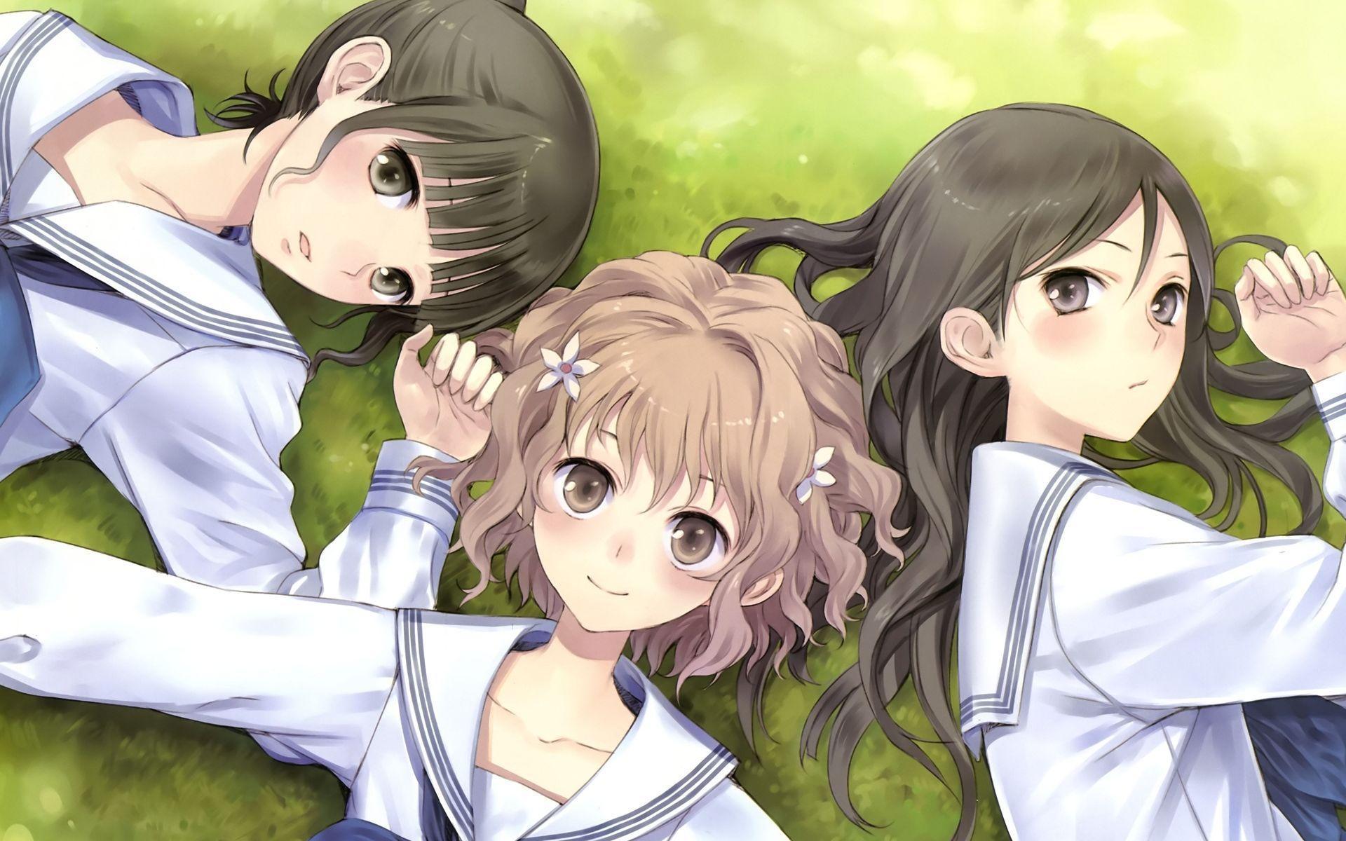 1920x1200 3 Anime Girls