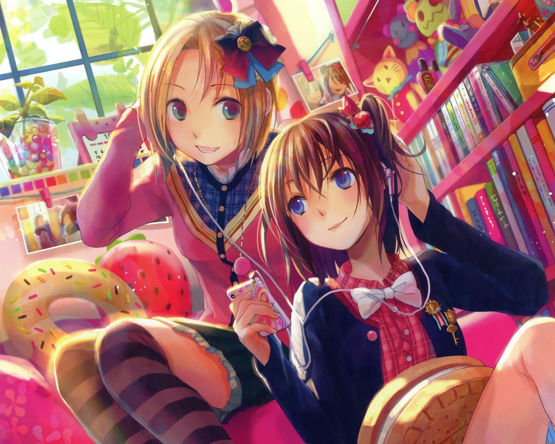 Japanese Anime Friends Desktop Wallpapers Top Free Japanese Anime Friends Desktop Backgrounds Wallpaperaccess