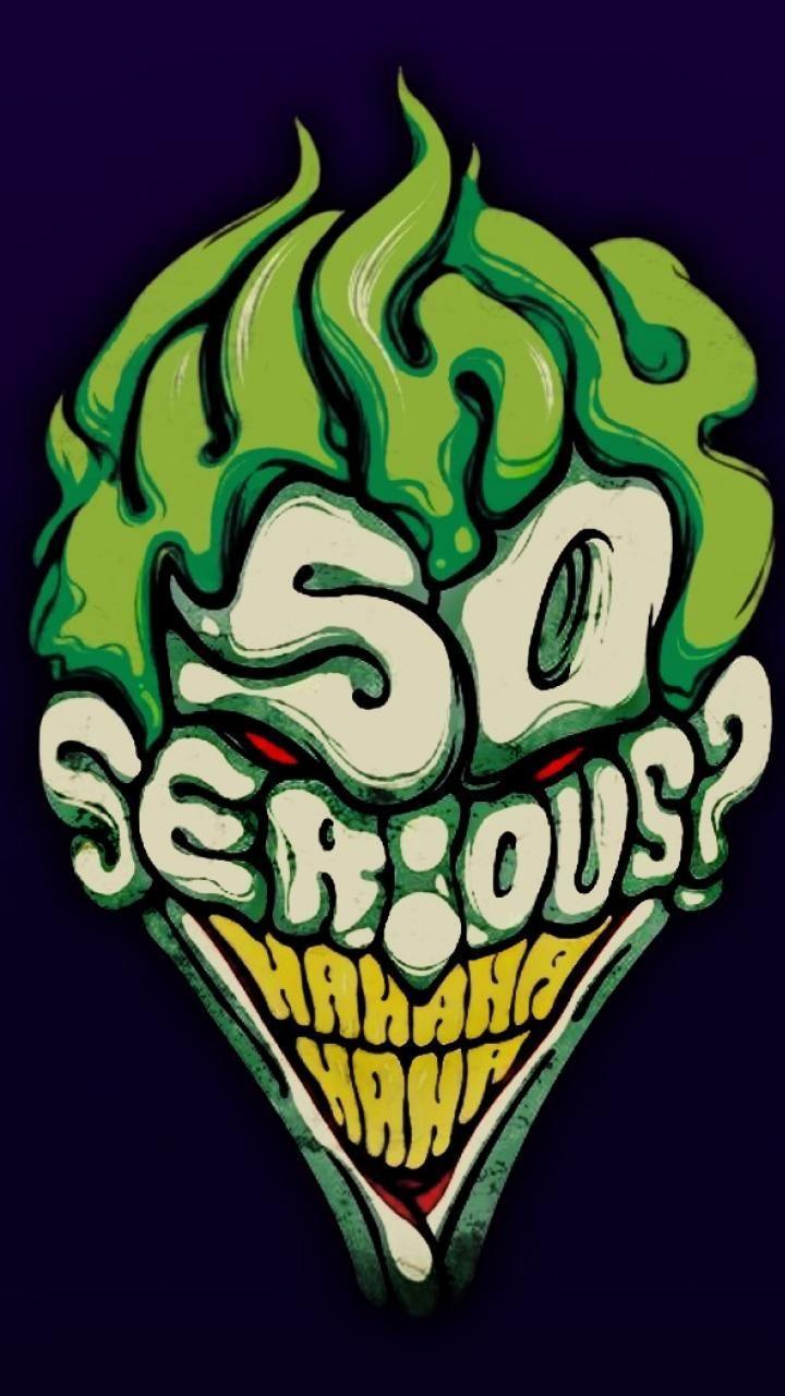 1080x1920 Joker Splatter Funny Colors