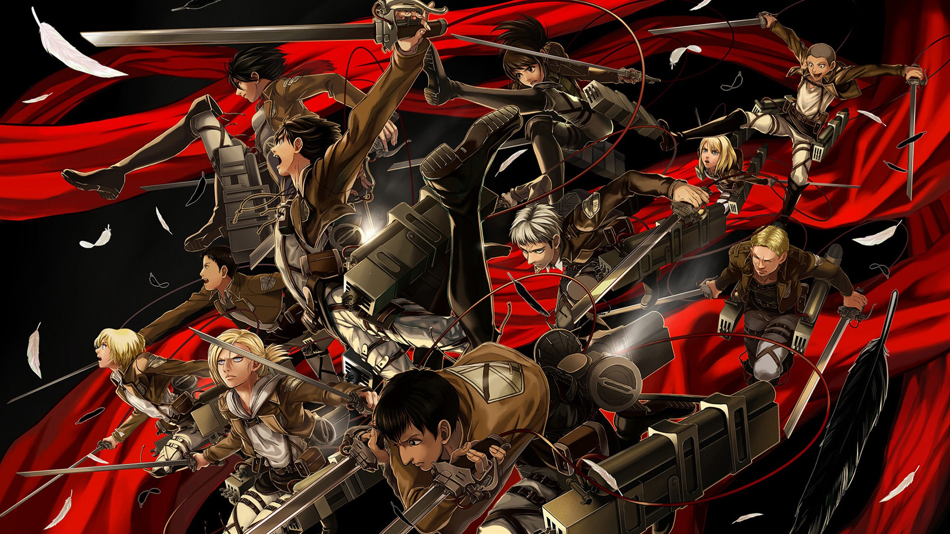 Attack On Titan Survey Corps Wallpapers Top Free Attack On Titan Survey Corps Backgrounds Wallpaperaccess