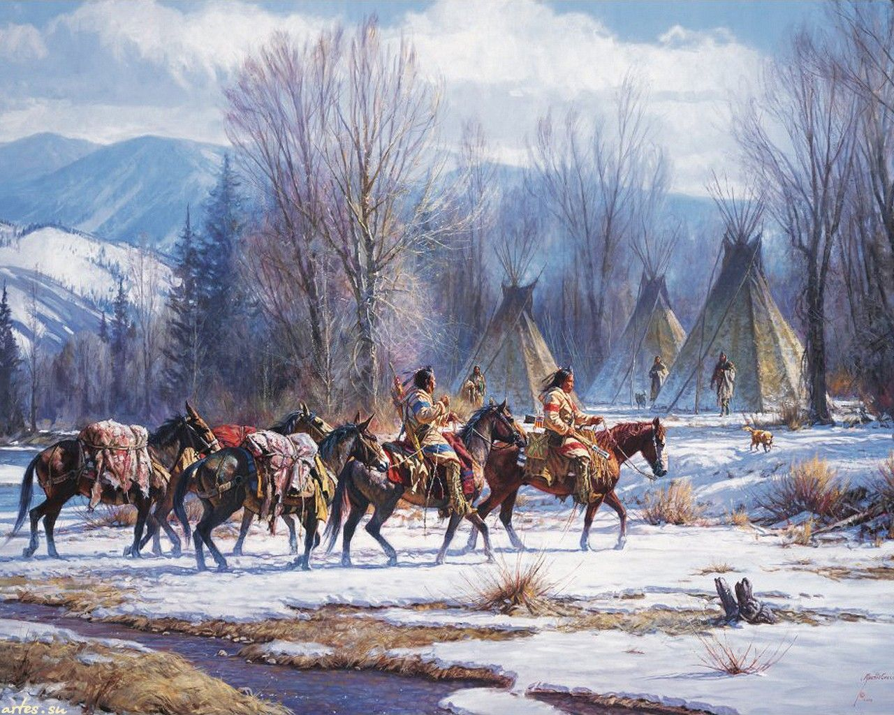 native american christmas wallpaper