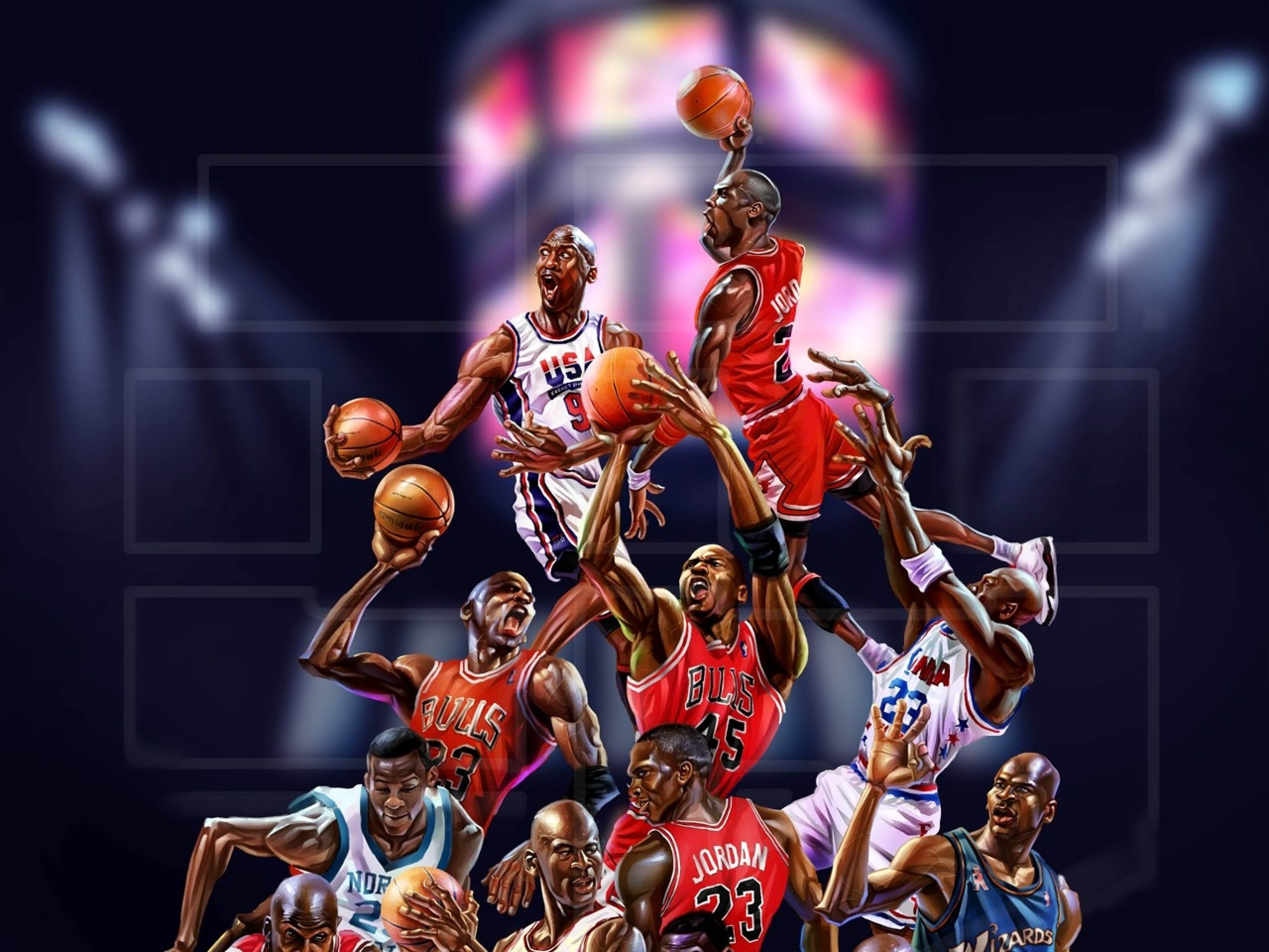 Michael Jordan Cartoon Wallpapers Top Free Michael Jordan Cartoon Backgrounds Wallpaperaccess