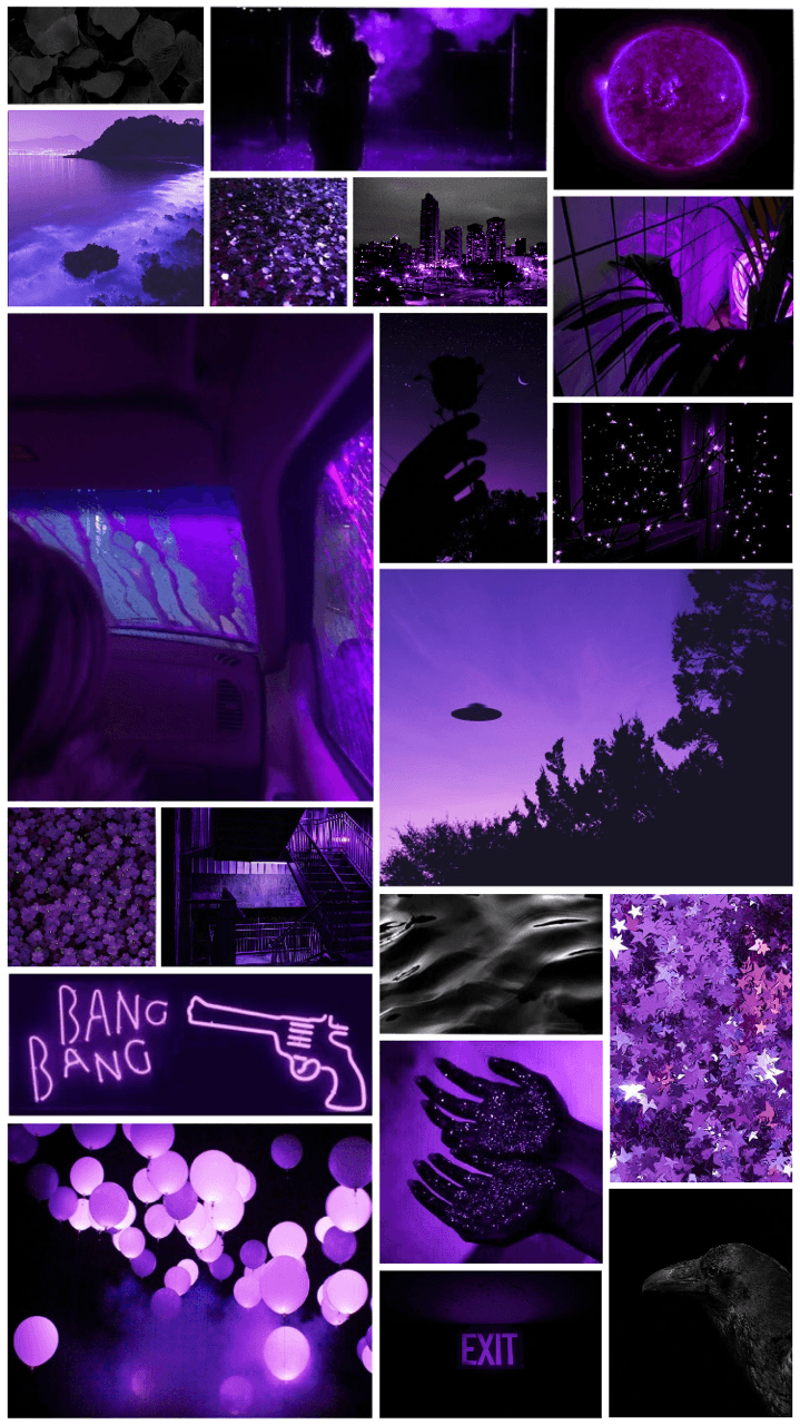 black and purple aesthetic wallpapers