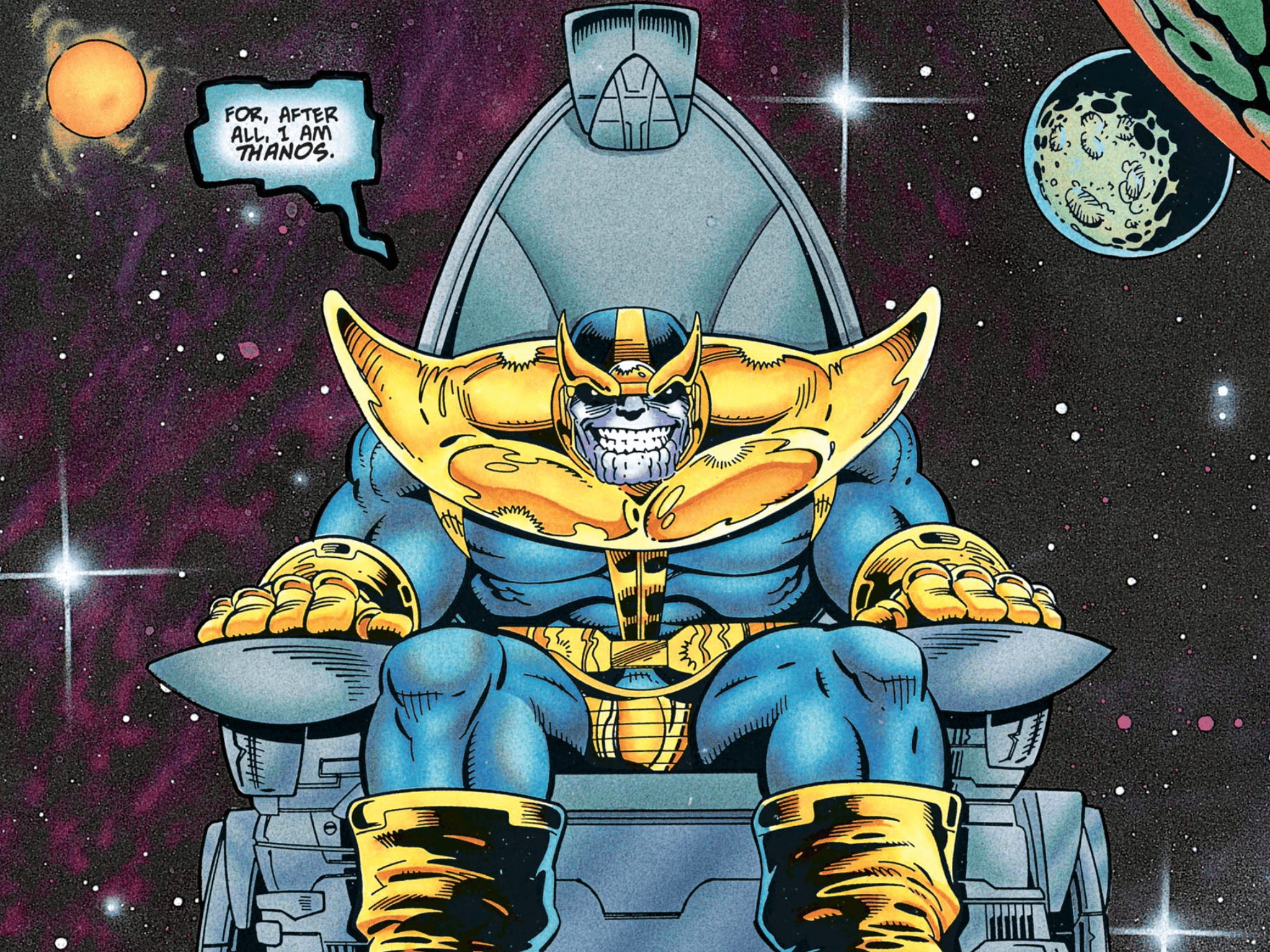 Thanos Family Problems: Thanos Infinity War Comic Wallpapers