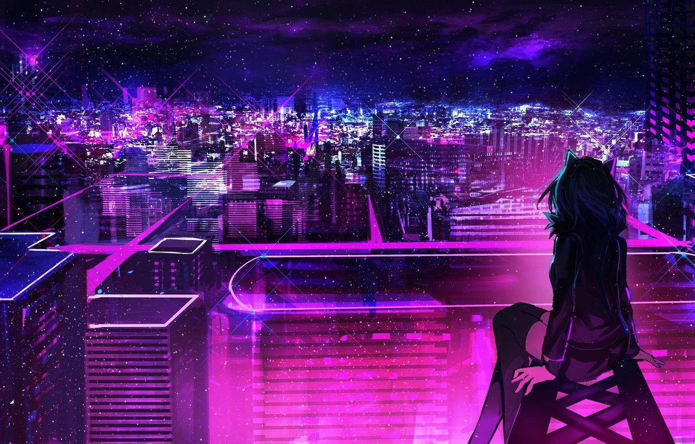 Anime Neon City Wallpapers - Top Free Anime Neon City ...