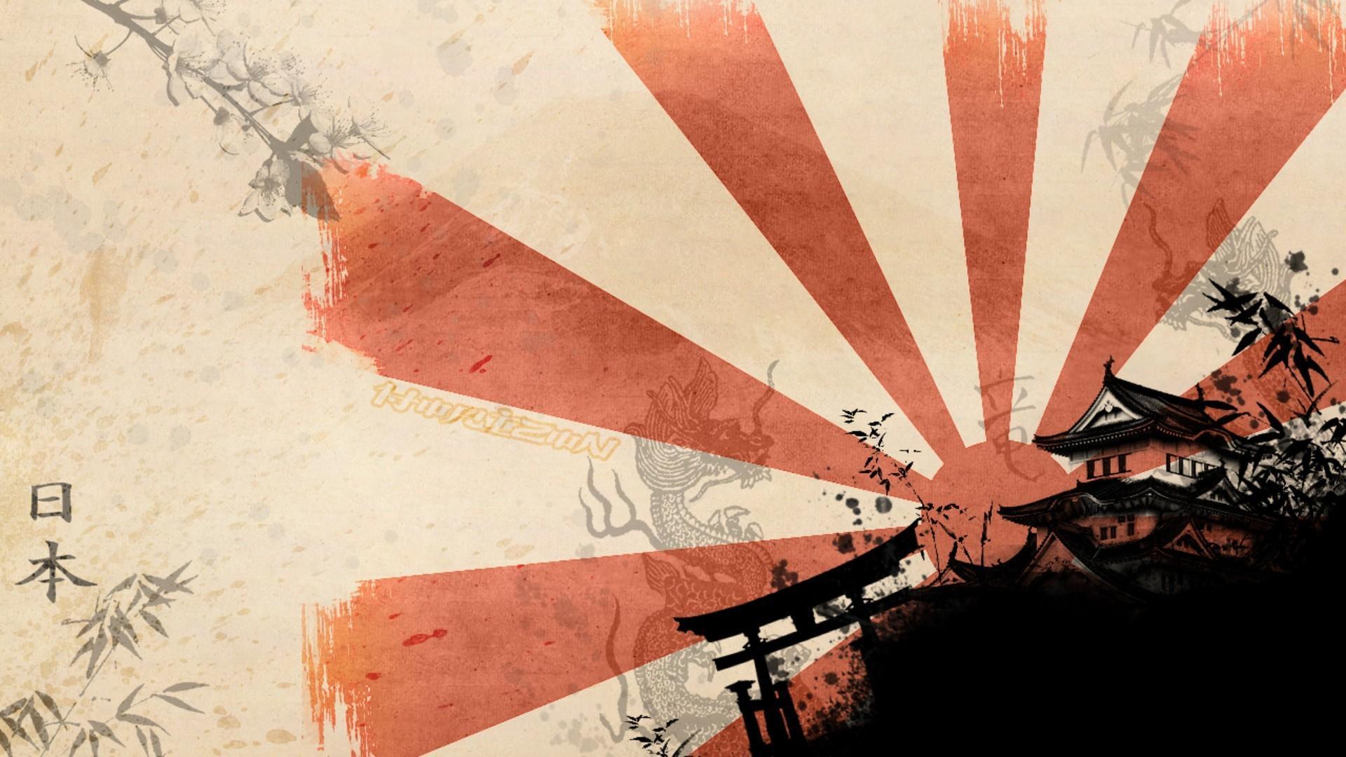 1920x1080 hình nền đền thờ mặt trời mọc Nhật Bản
