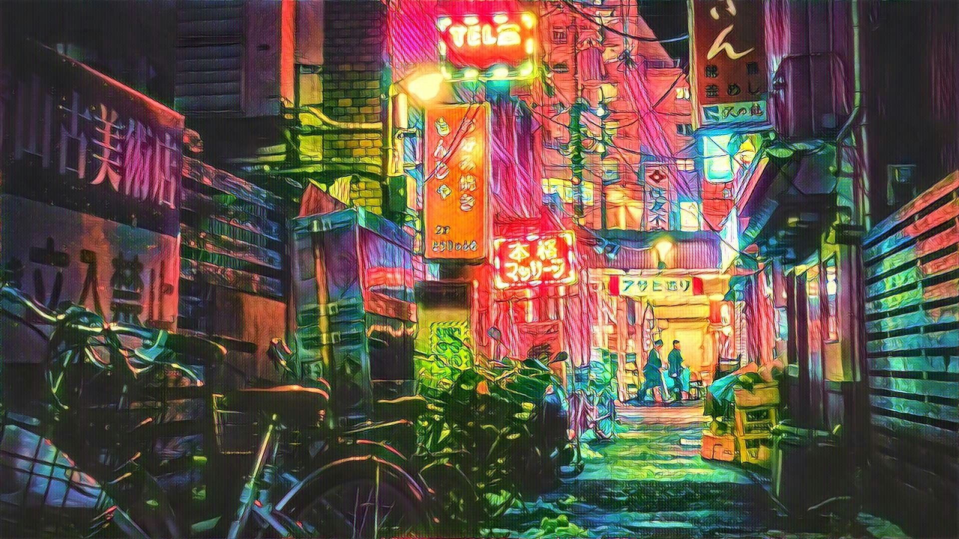 Neon Tokyo City Wallpaper 4k   Quotes and Wallpaper O