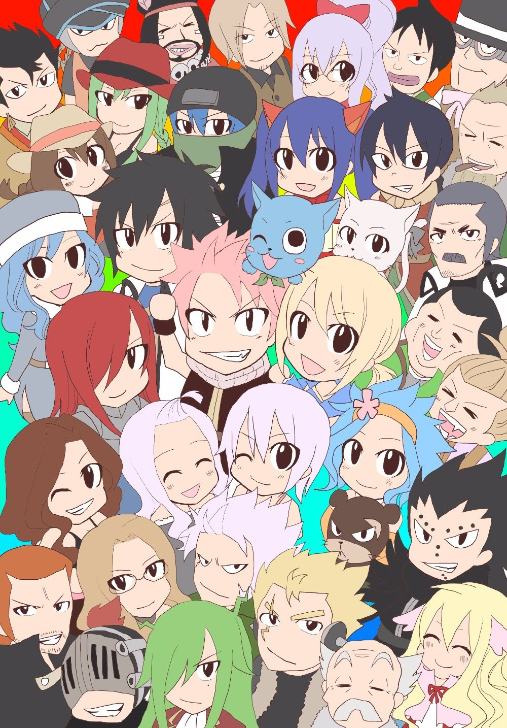 Fairy tail background. Chibi wallpapers top free