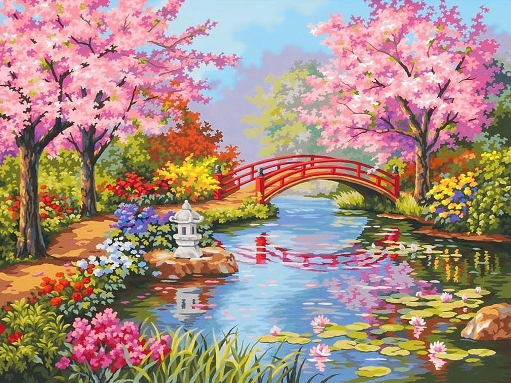 Japanese Flower Garden Wallpapers Top Free Japanese Flower Garden Backgrounds Wallpaperaccess
