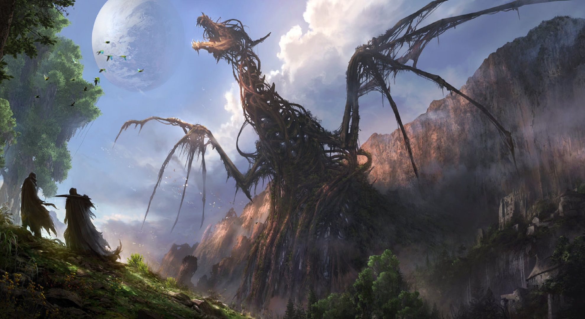 Giant Dragon Wallpapers Top Free Giant Dragon Backgrounds Wallpaperaccess