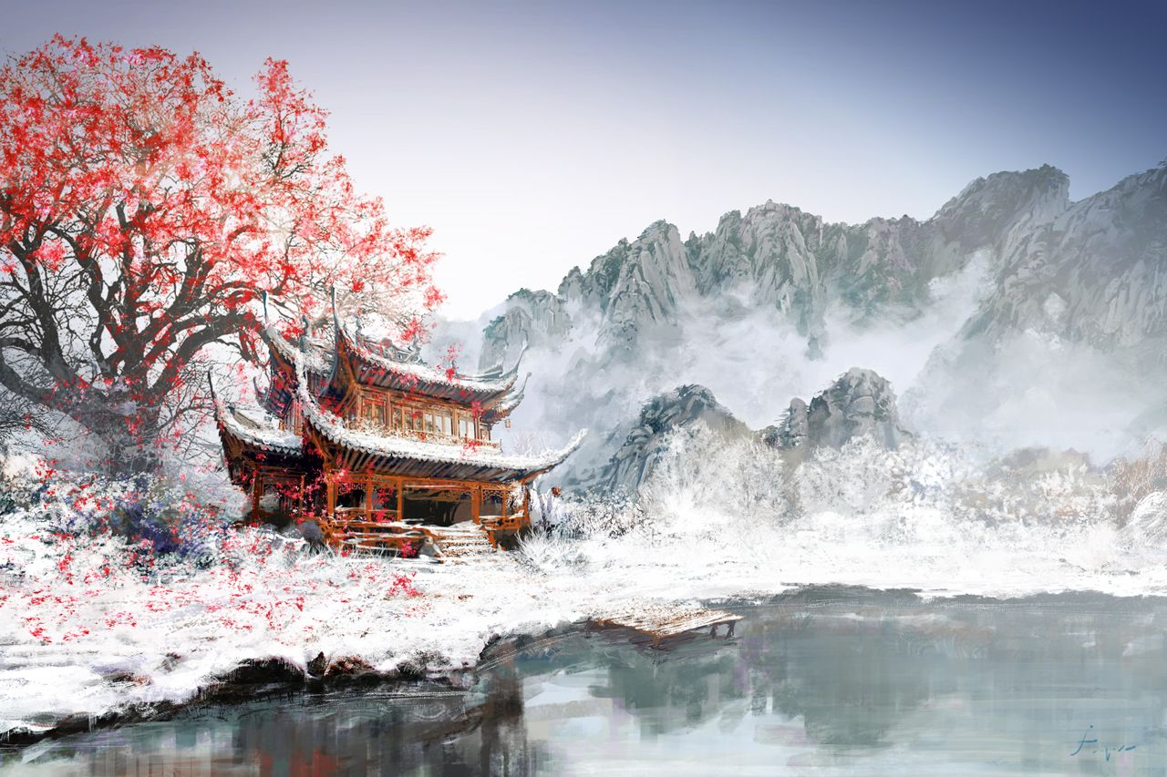 Japanese Landscape Painting Wallpapers