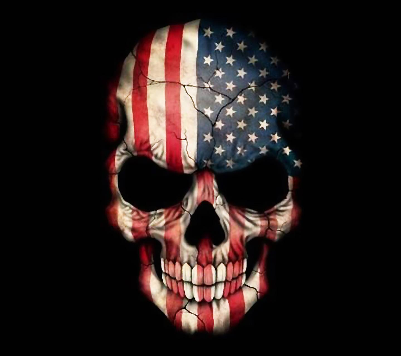 American Flag Skull Wallpapers Top Free American Flag Skull Backgrounds Wallpaperaccess
