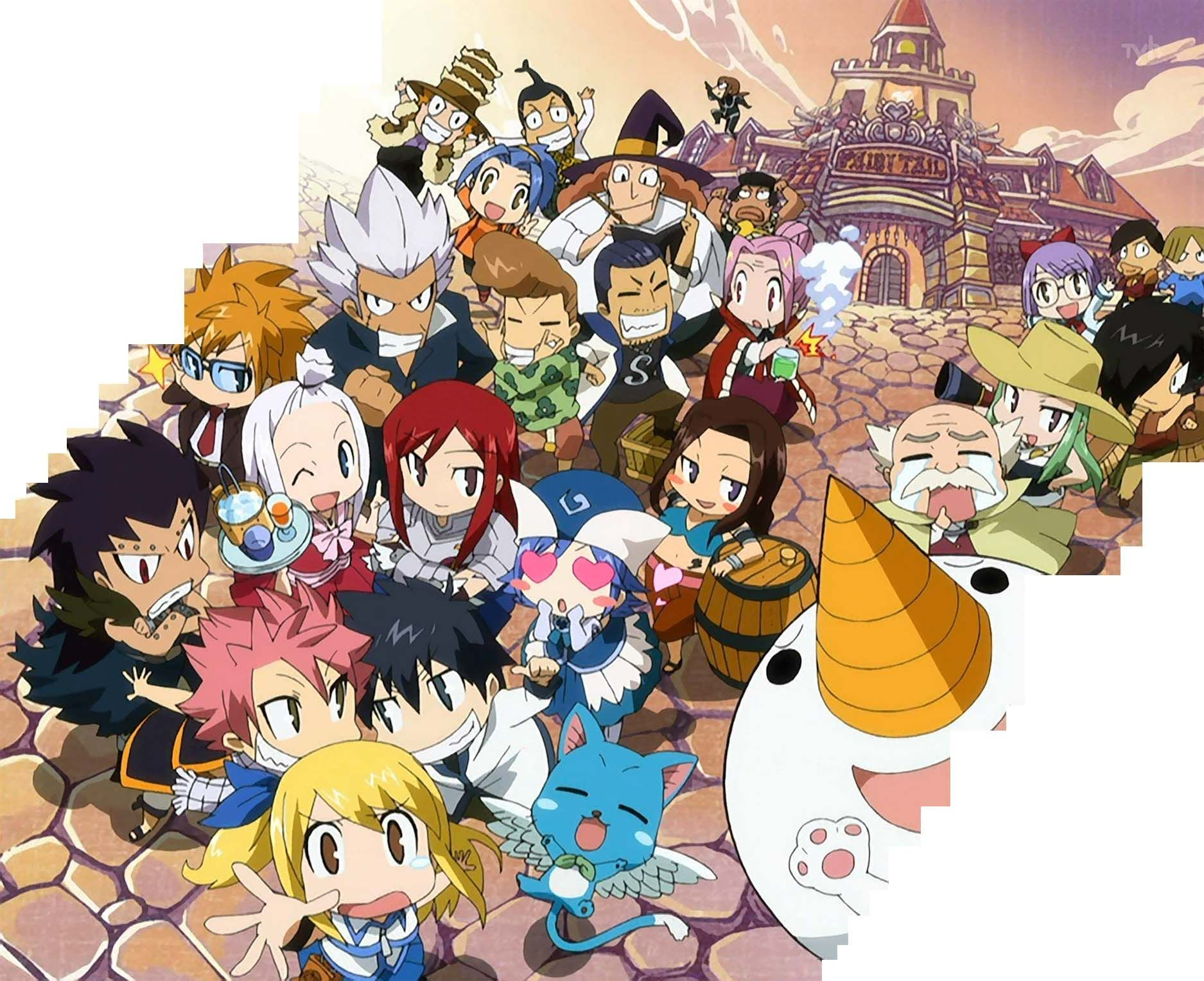 Chibi Fairy Tail Wallpapers Top Free Chibi Fairy Tail Backgrounds Wallpaperaccess