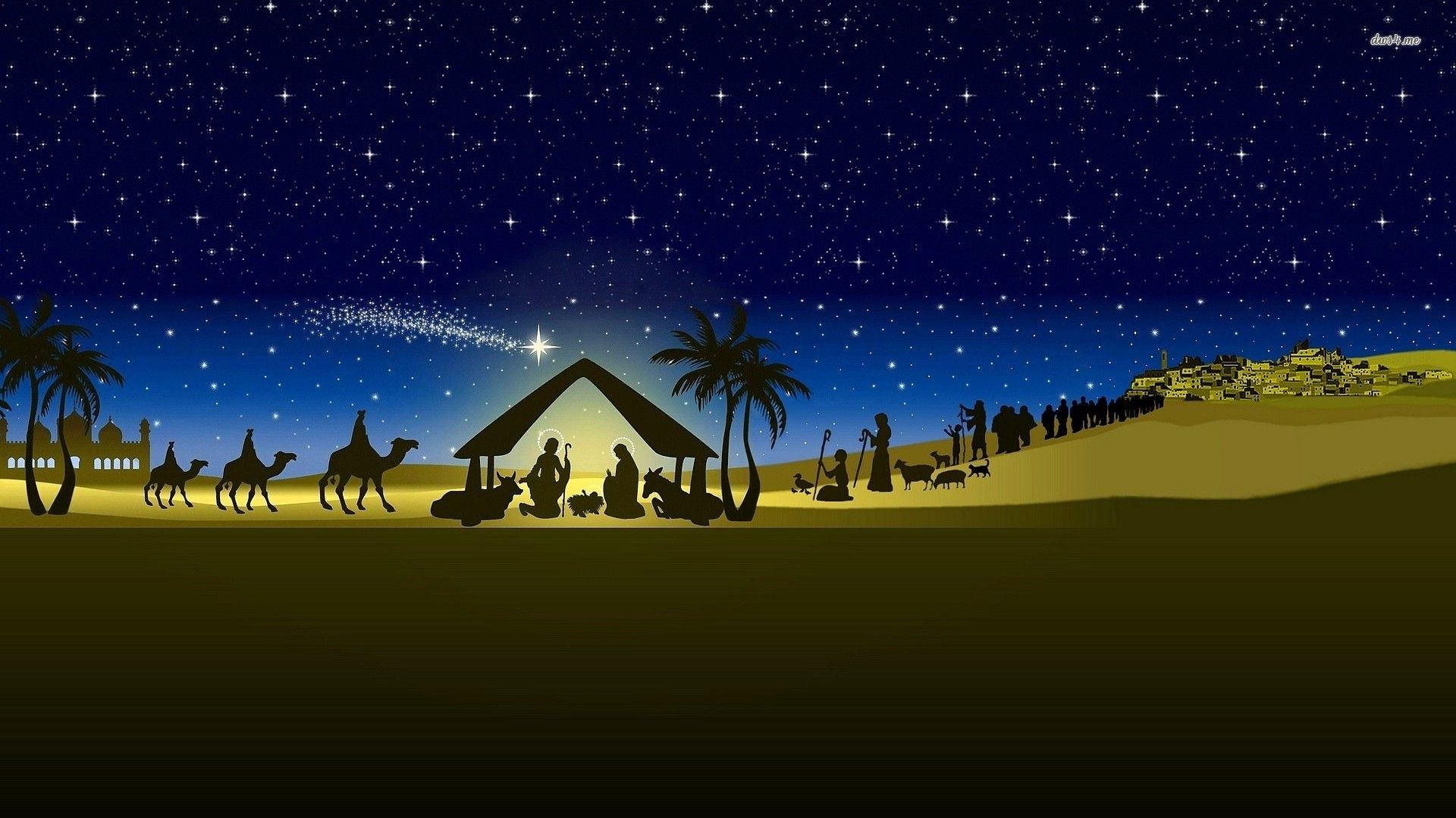 Christian Christmas Nativity Wallpapers Top Free Christian