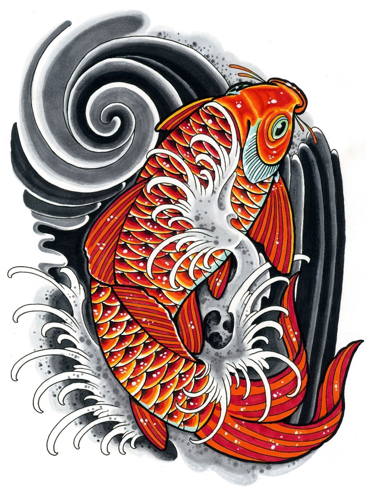 76 Best Free Tattoo Japanese Koi Wallpapers - WallpaperAccess