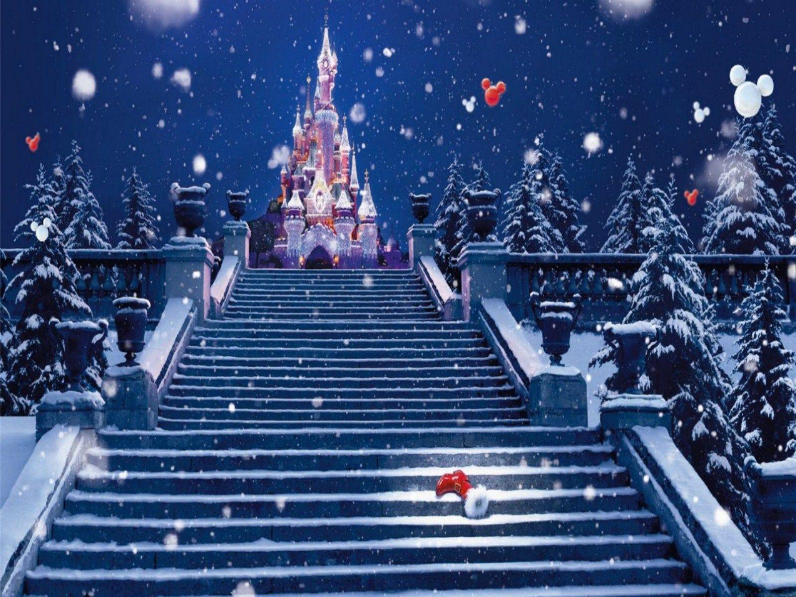 Disney Christmas Wallpapers Top Free Disney Christmas Backgrounds Wallpaperaccess