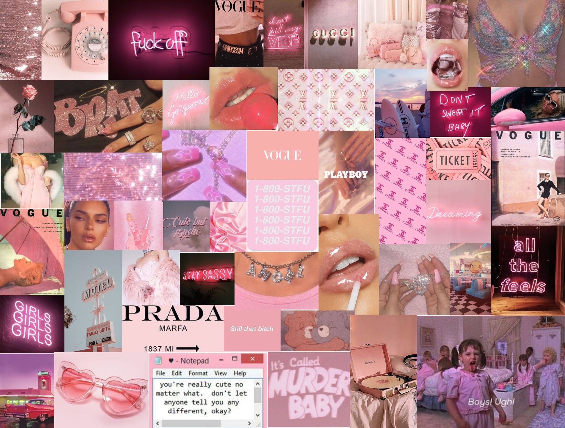 Pink Collage Computer Wallpaper Pink Collage Desktop Wallpapers Top Free Pink Collage Desktop Backgrounds Wallpaperaccess pink collage desktop wallpapers top