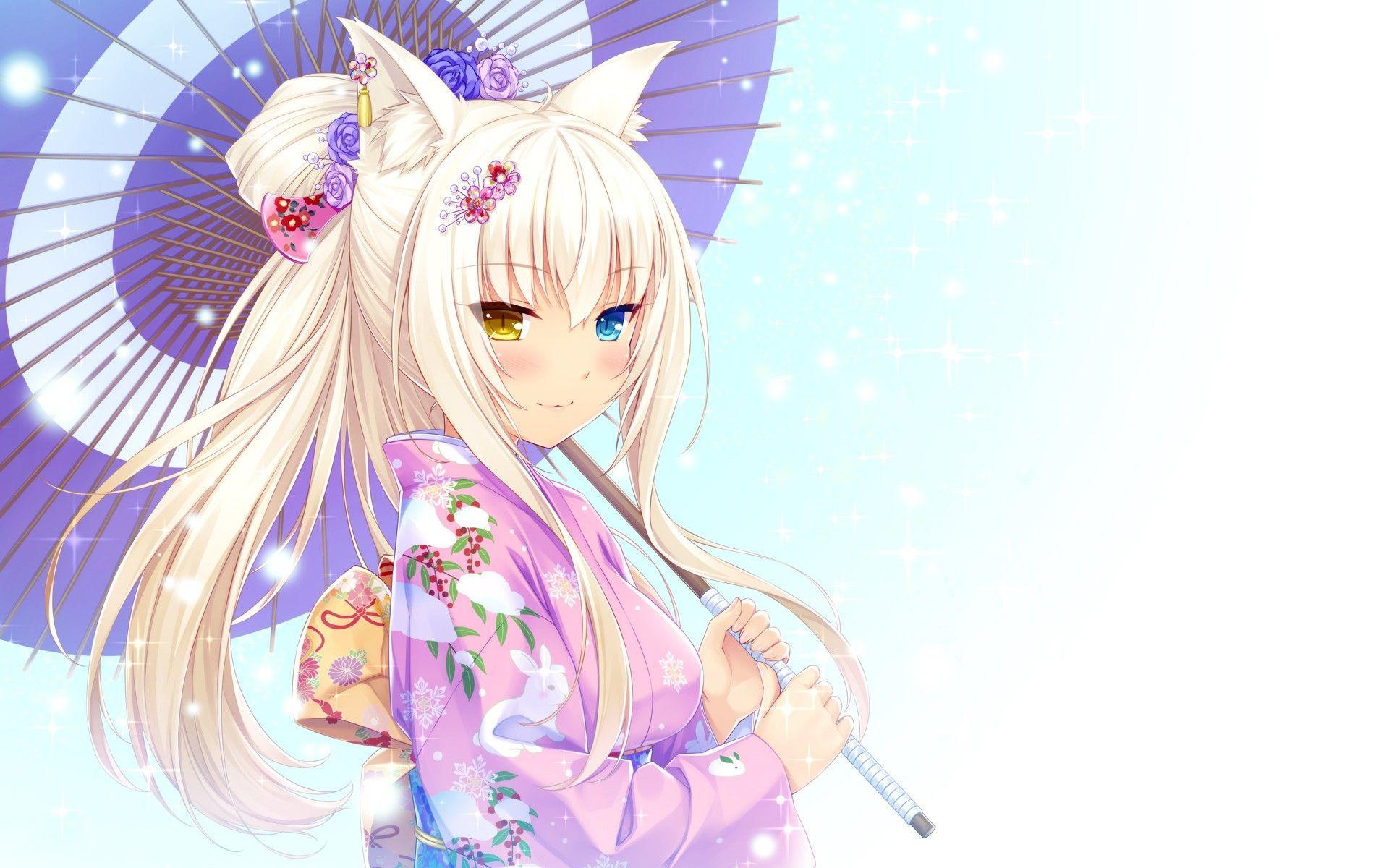 Cute Anime Neko Girls Wallpapers Top Free Cute Anime Neko Girls Backgrounds Wallpaperaccess
