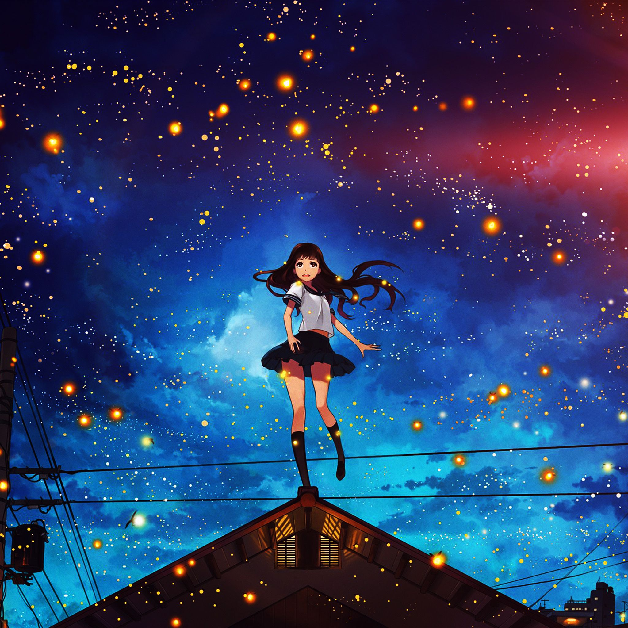Anime Space Girl Wallpapers Top Free Anime Space Girl Backgrounds Wallpaperaccess