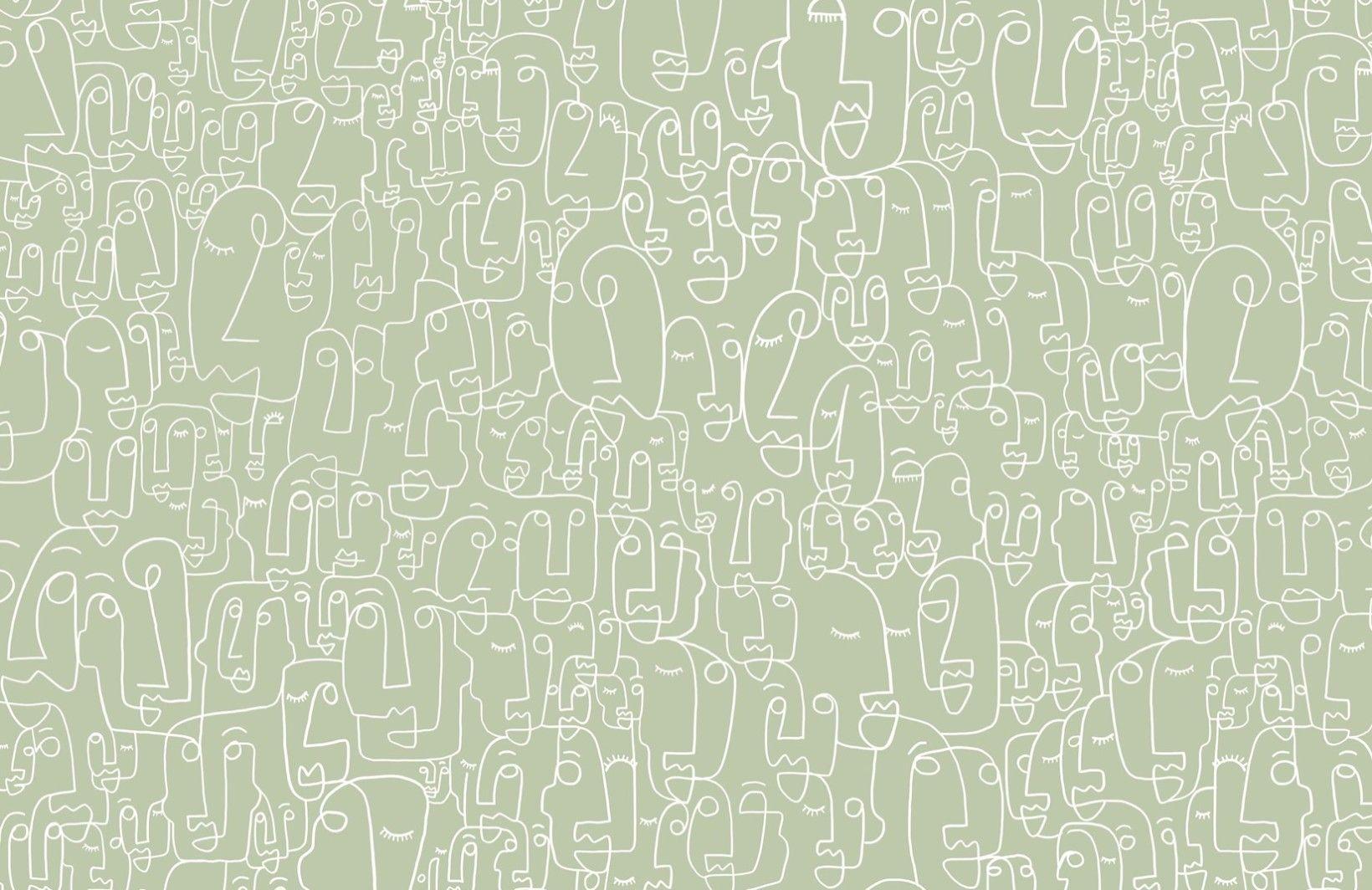 1640x1064 Sage & White Face Wallpaper Mural.  Tranh tường hình nền.  Hình nền vẽ, Hình nền máy tính thẩm mỹ, Hình nền bức tranh tường