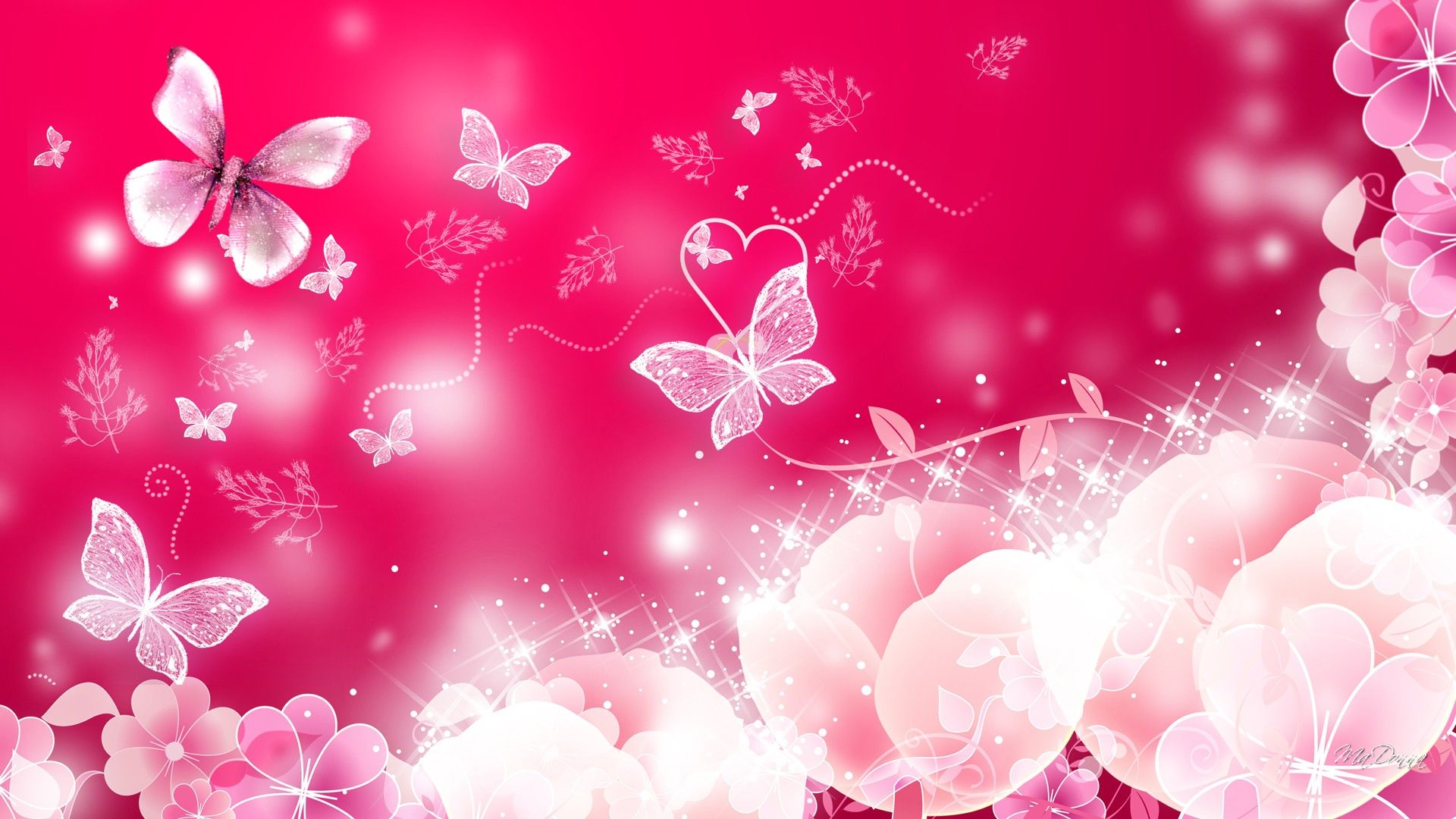 luthfiannisahay: Iphone Pink Glitter Butterfly Wallpaper Gif