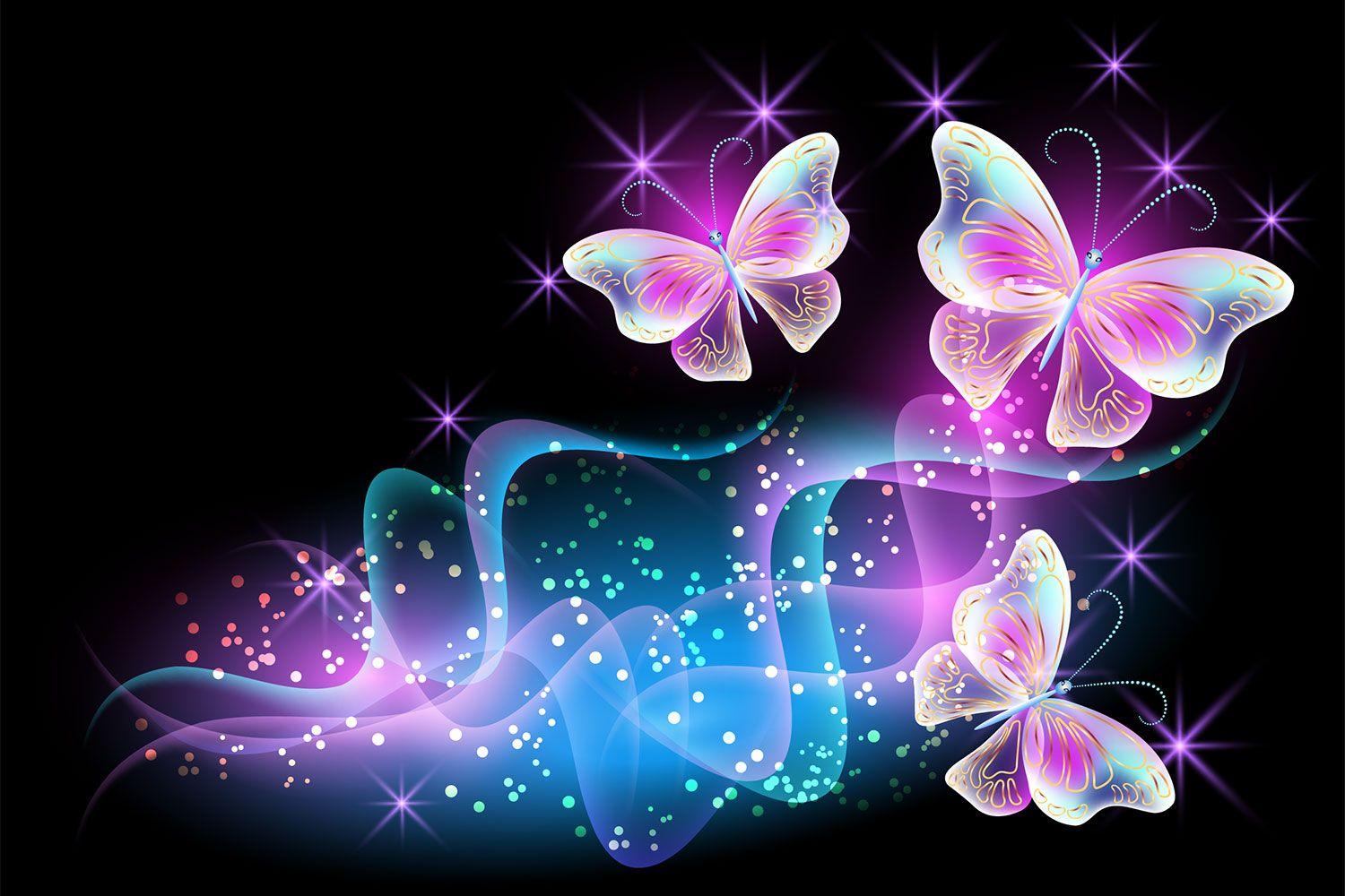 Neon Pink Butterfly Wallpapers Top Free Neon Pink