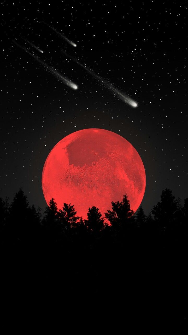 Red Moon Wallpapers Top Free Red Moon Backgrounds Wallpaperaccess