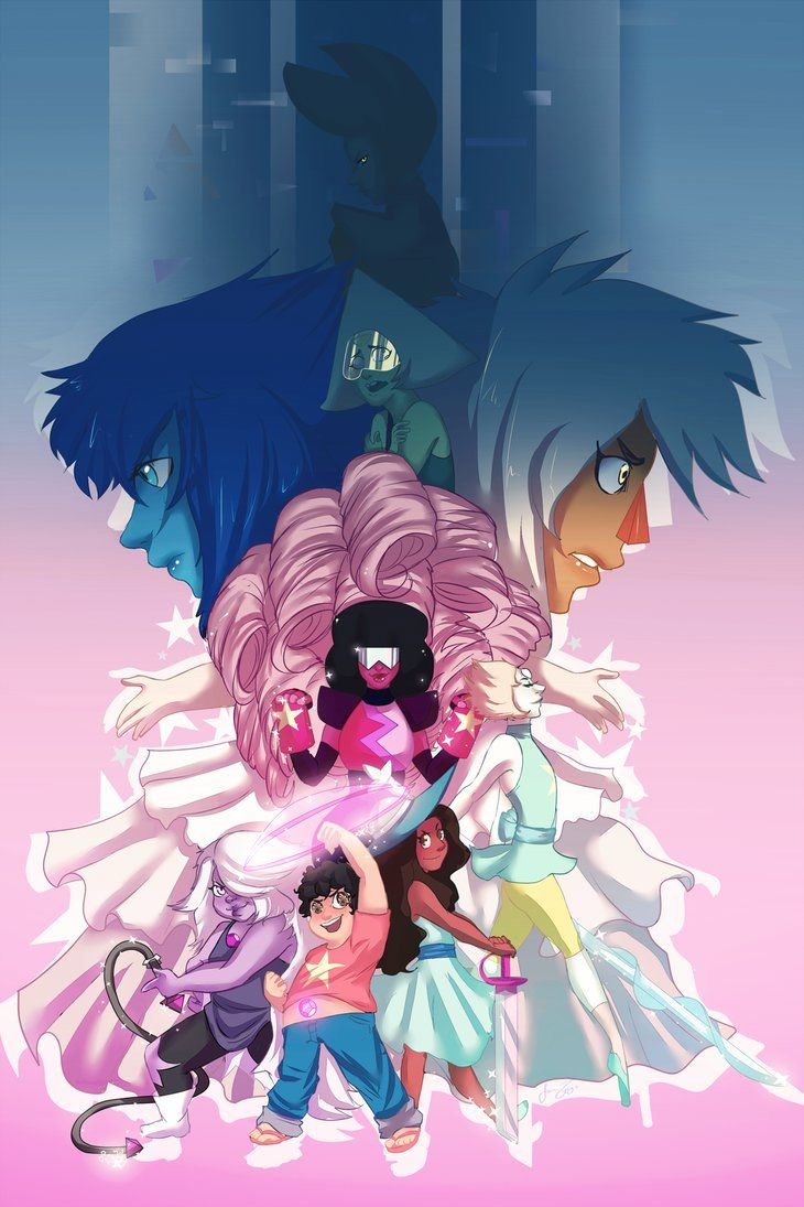 730x1095 Steven Universe and the Crystal Gems! by JoanaTiago on DeviantArt