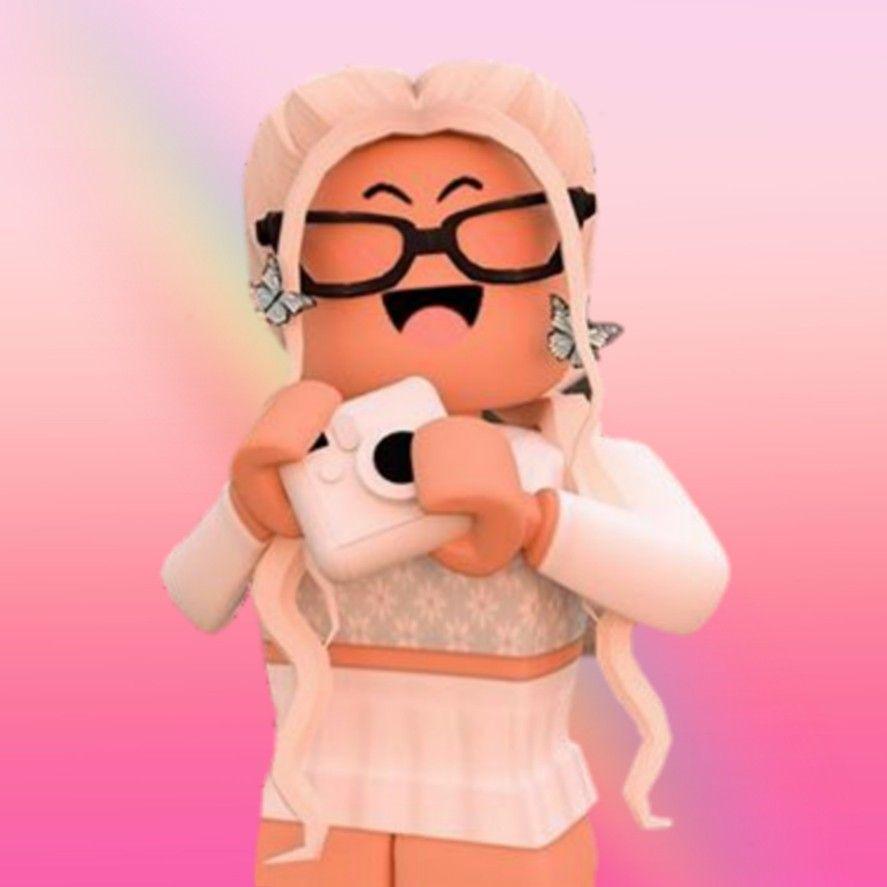 887x887 gfx girl in 2020. Hoạt hình Roblox, Hình nền tumblr dễ thương, Roblox