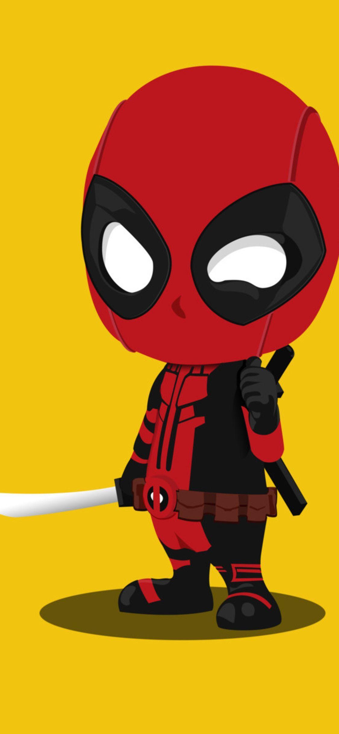 Cartoon Deadpool Iphone Wallpapers Top Free Cartoon