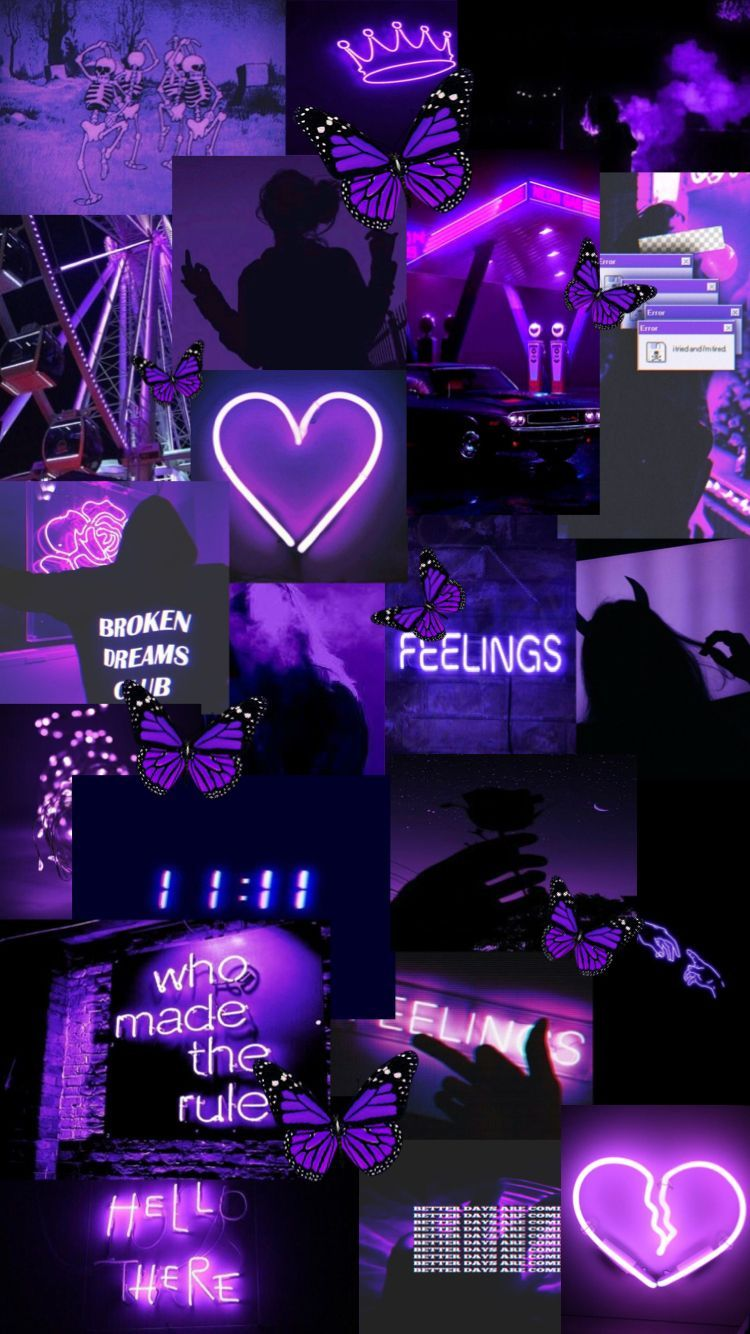 Dark Purple Collage Aesthetic Wallpapers Top Free Dark Purple Collage Aesthetic Backgrounds Wallpaperaccess