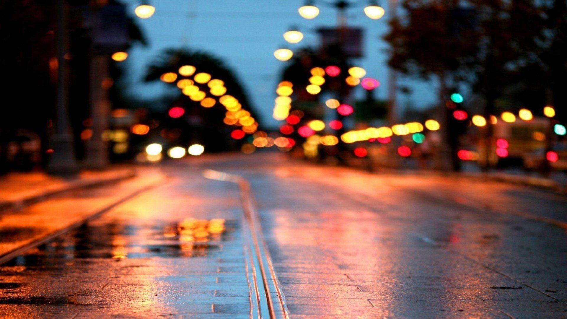 City Blur Wallpapers Top Free City Blur Backgrounds Wallpaperaccess Hd wallpaper lights blur city glare