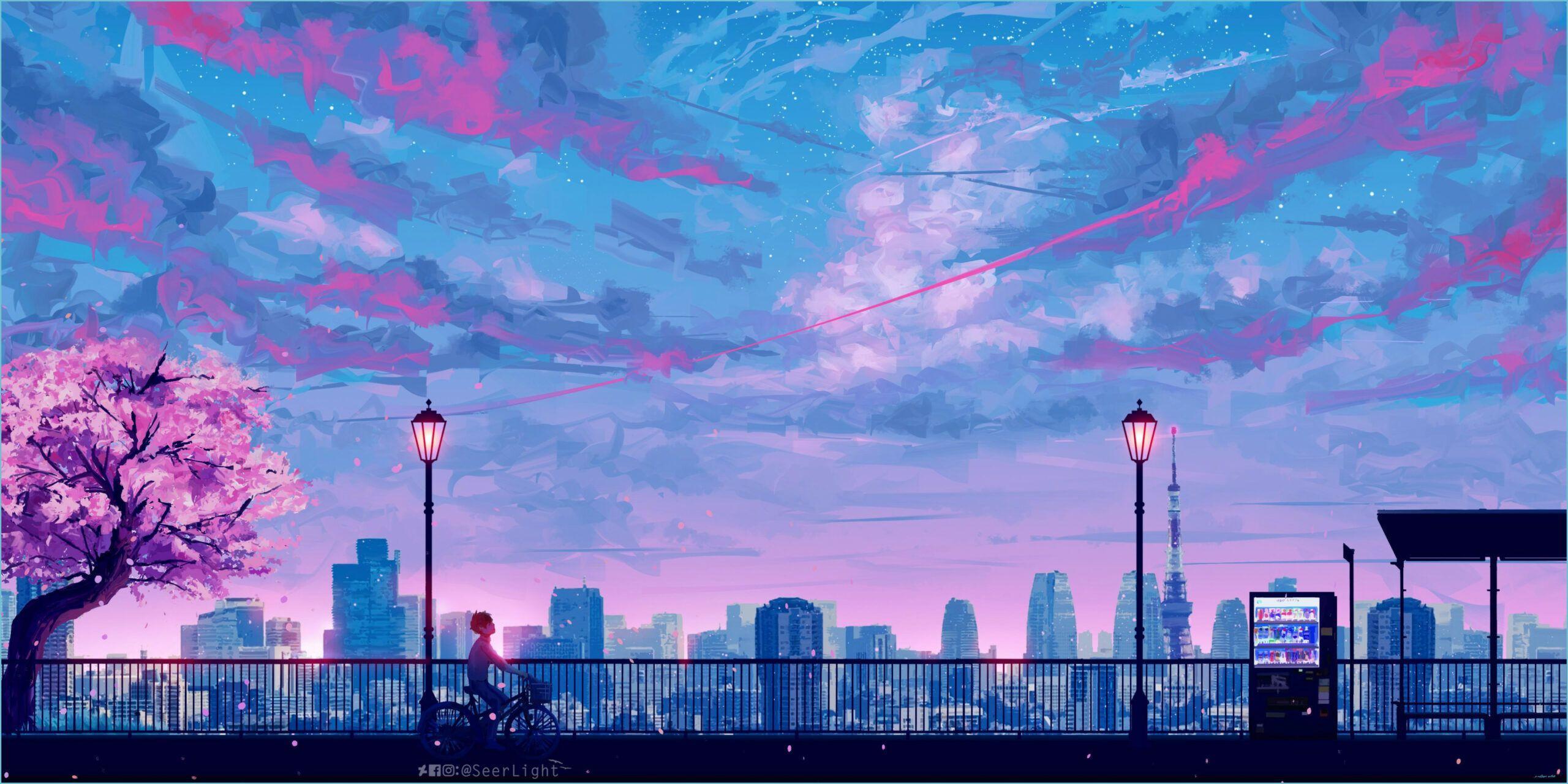 Hình nền máy tính xách tay Anime Aesthetic 12s 2560x1280 - Hình nền PC thẩm mỹ