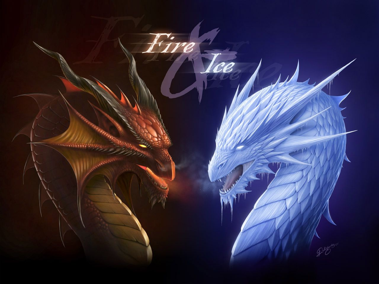 1280x960 Fire And Ice Dragons Images Fire And Ice Dragons HD Wallpaper And .