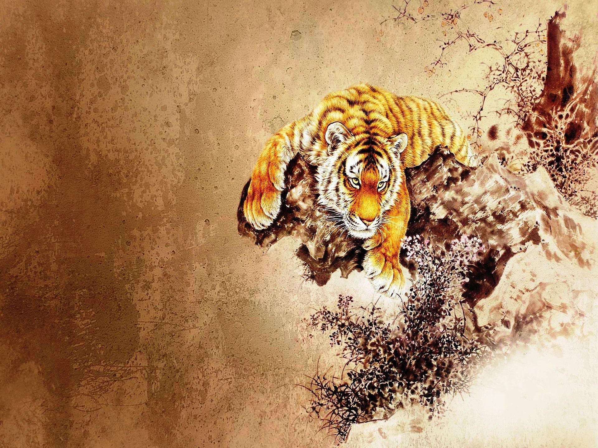 Japanese Tiger Art Wallpapers Top Free Japanese Tiger Art
