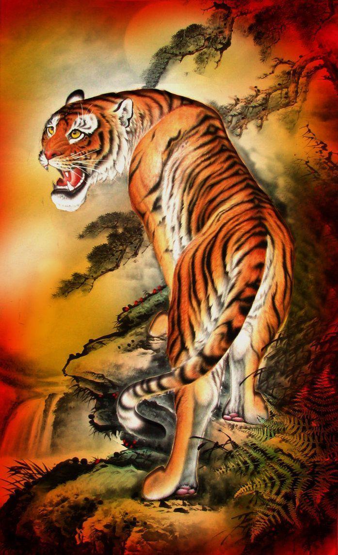 Japanese Tiger Art Wallpapers - Top Free Japanese Tiger Art