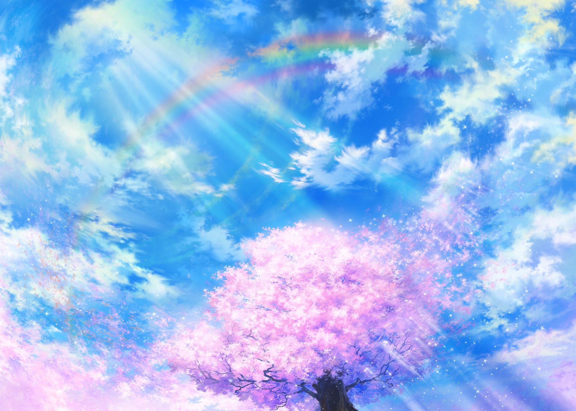 Anime Girl Falling From The Sky - Anime Wallpapers