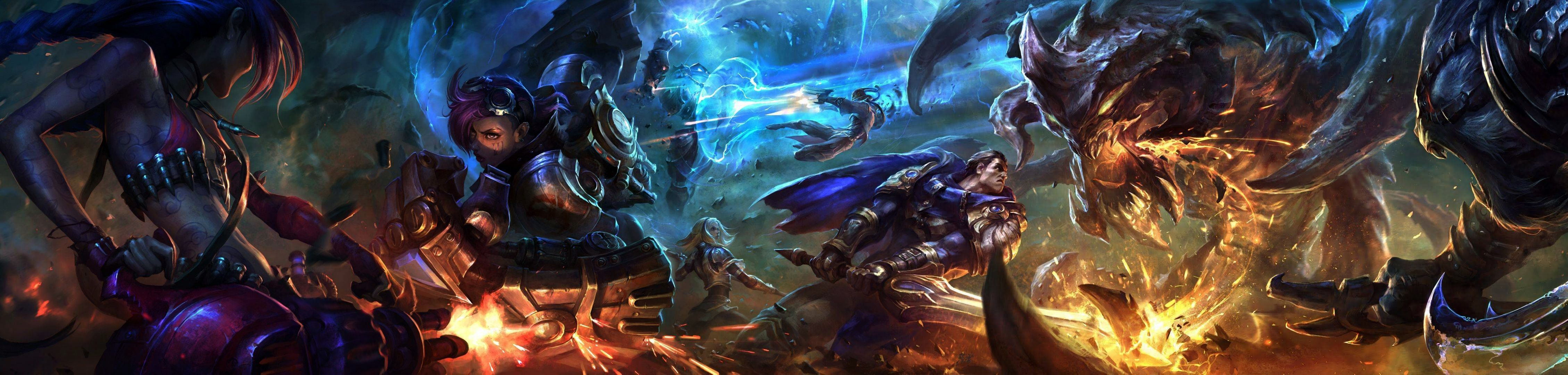 League Of Legends Dual Screen Wallpapers Top Free League Of